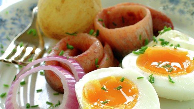 Sildetallerken med egg