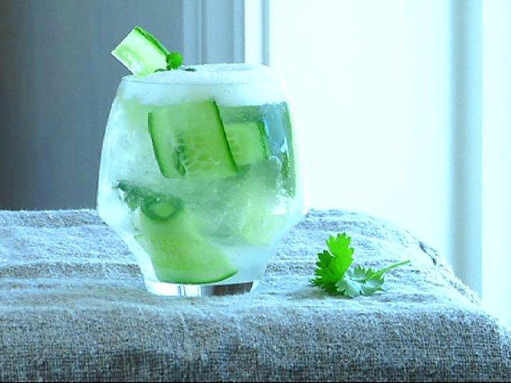 Gin & Tonic med agurk og limeskum