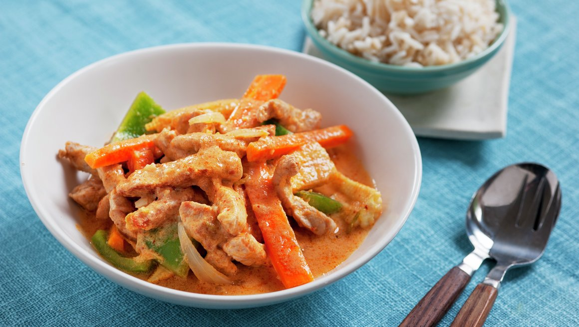 Thaigryte med svinekjøtt 1