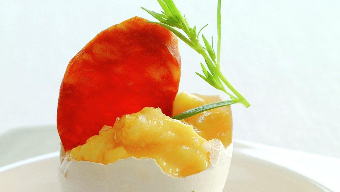 Bløt eggerøre med chorizopølse