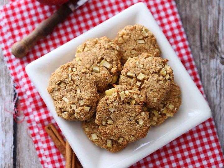 Eple- og havrecookies