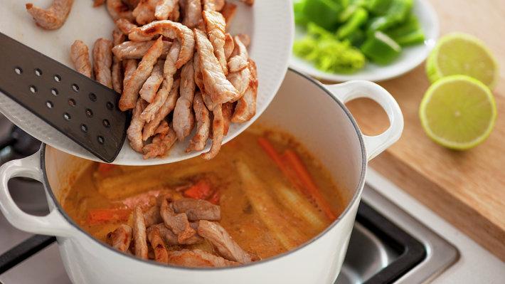 Thaigryte med svinekjøtt 3c