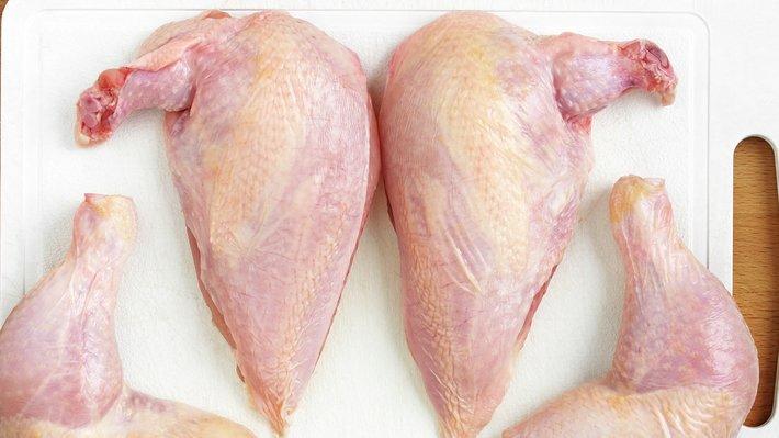 Kyllingbryst og kyllinglår naturell