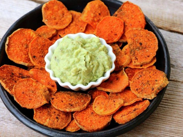 Søtpotetsnack med guacamole, 1 porsjon