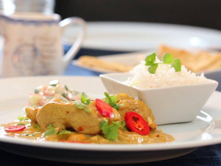 Indisk kylling med raita