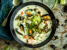 Fiskesuppe med tang