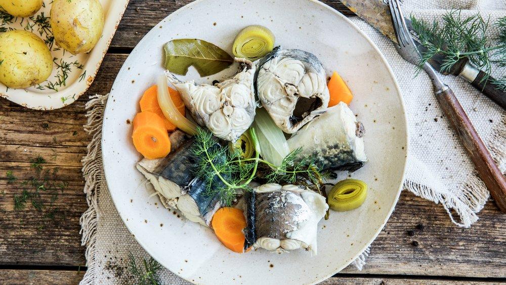 Syltet makrell med pepperrotsaus