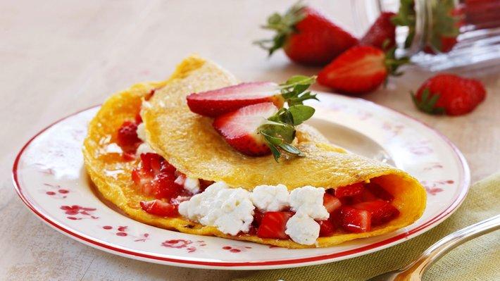 Omelett med jordb r og cottage cheese matprat for Med cottages