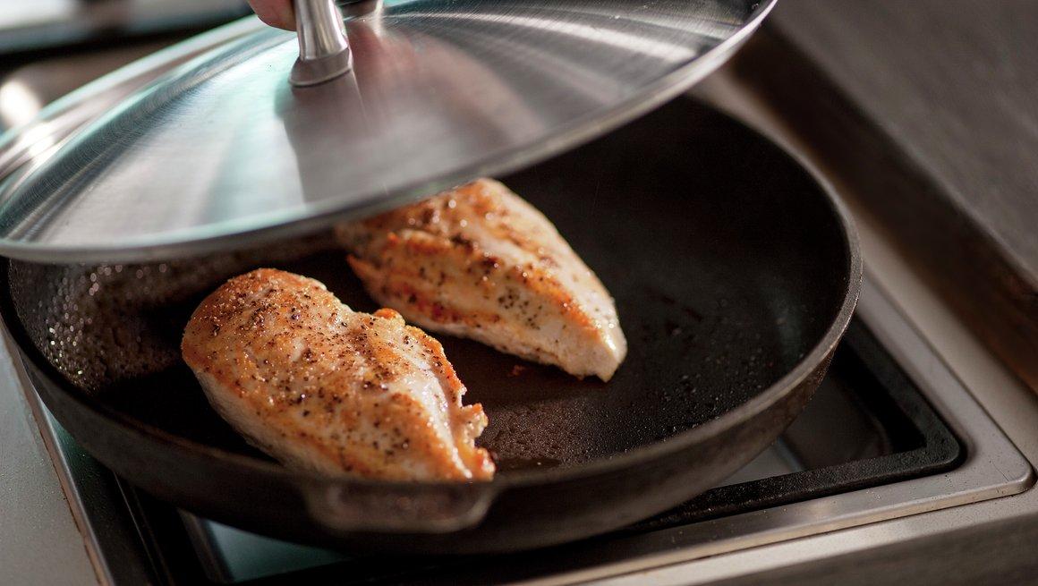 Kyllingfilet med ratatouille 3d