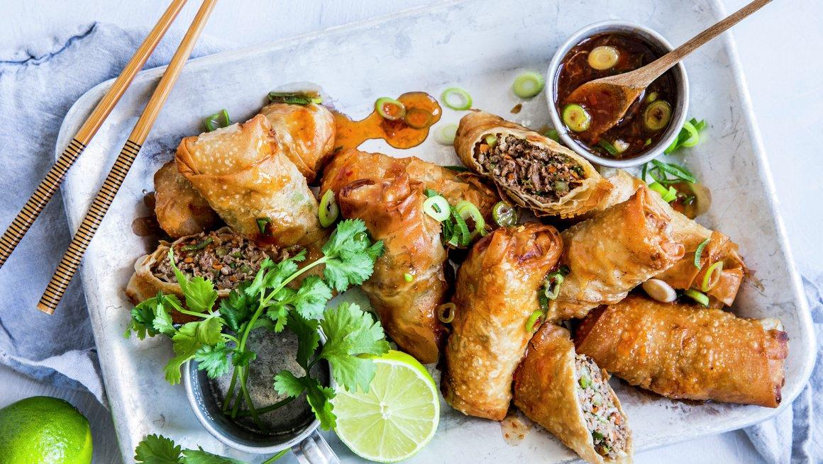 Vietnamesiske vårruller med lam