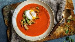 Tomat- og hvitløksuppe