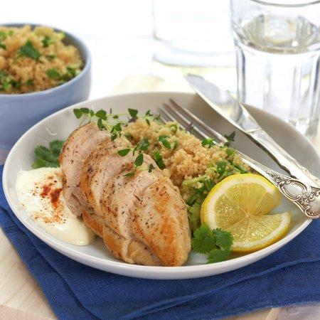 Kyllingfilet med sitron og squashcouscous