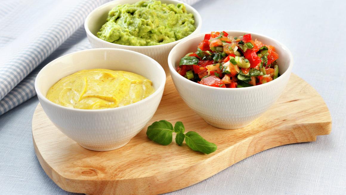 Salsa, guacamole og karriaioli