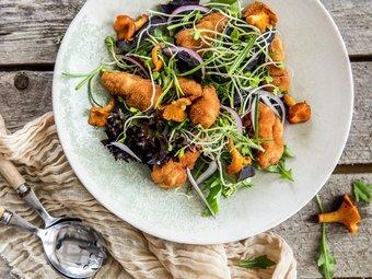 Salat med brissel og sopp