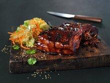 Ribbe med asiatisk glaze