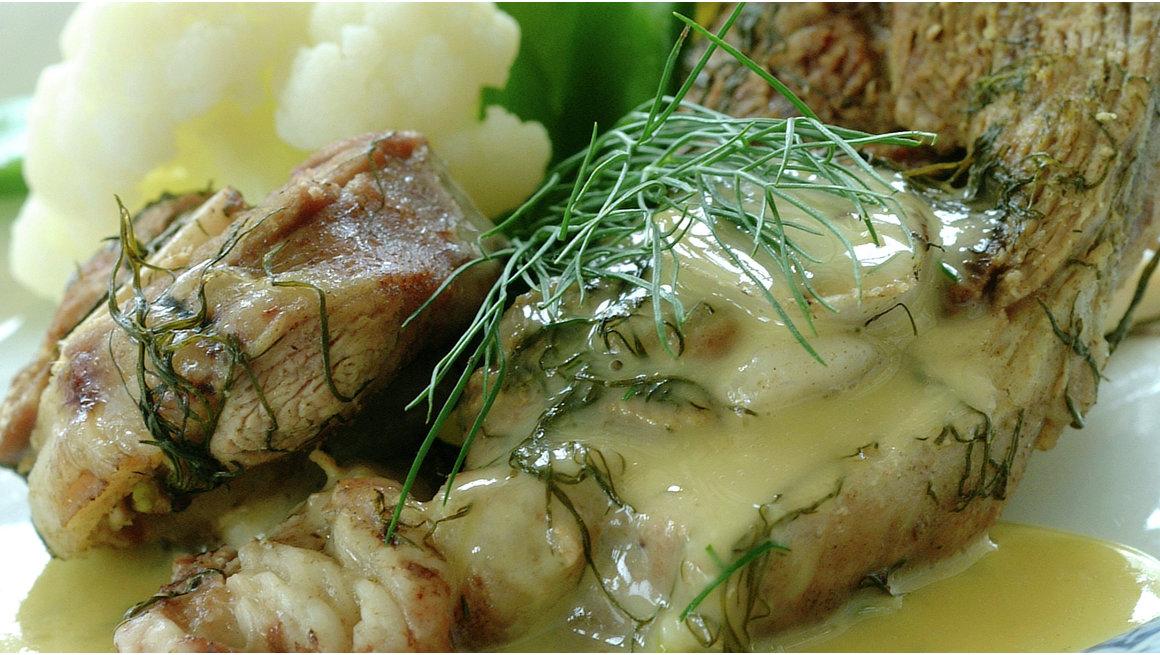 Lammekjøtt kokt med dill fra Hedmark
