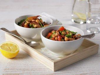 Kikertgryte med oregano og tomat