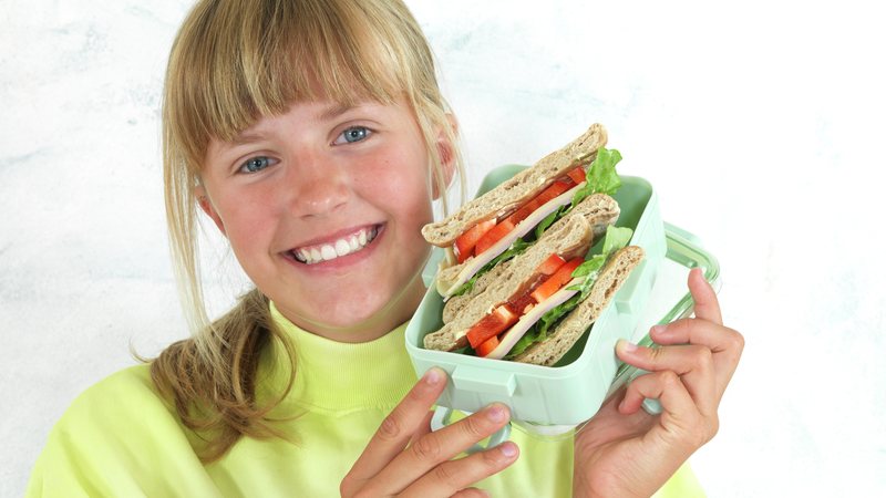 Polarbrød sandwich med ost og skinke