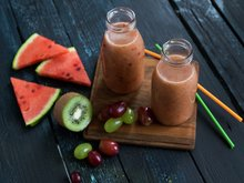 Smoothie med vannmelon og druer