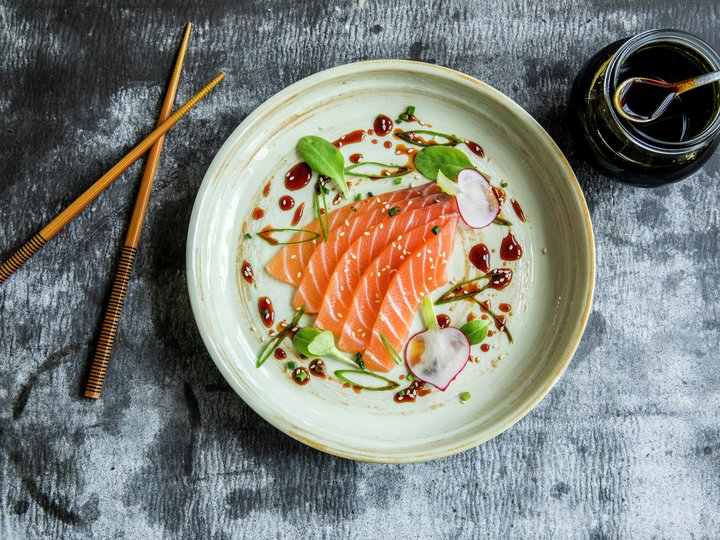Sashimi med soyaglaze