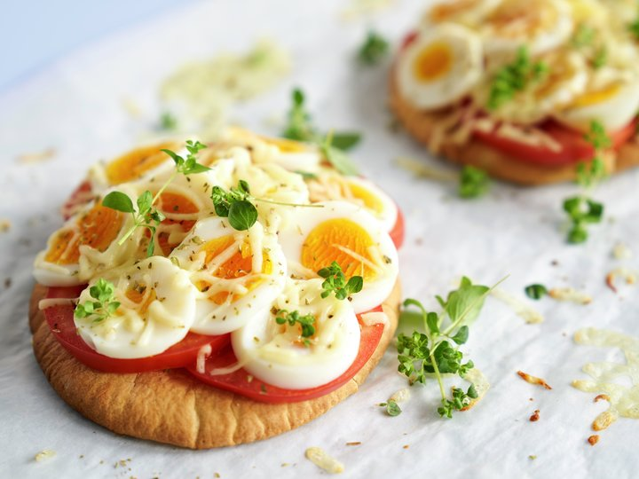 Pita pizza med egg