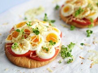 Pitapizza med egg