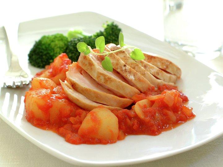 sunn middag med kylling