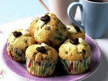 Valnøtt- og sjokolademuffins