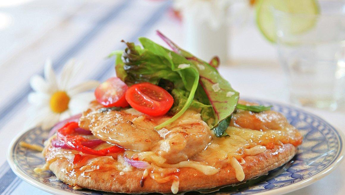 Rask kyllingpizza