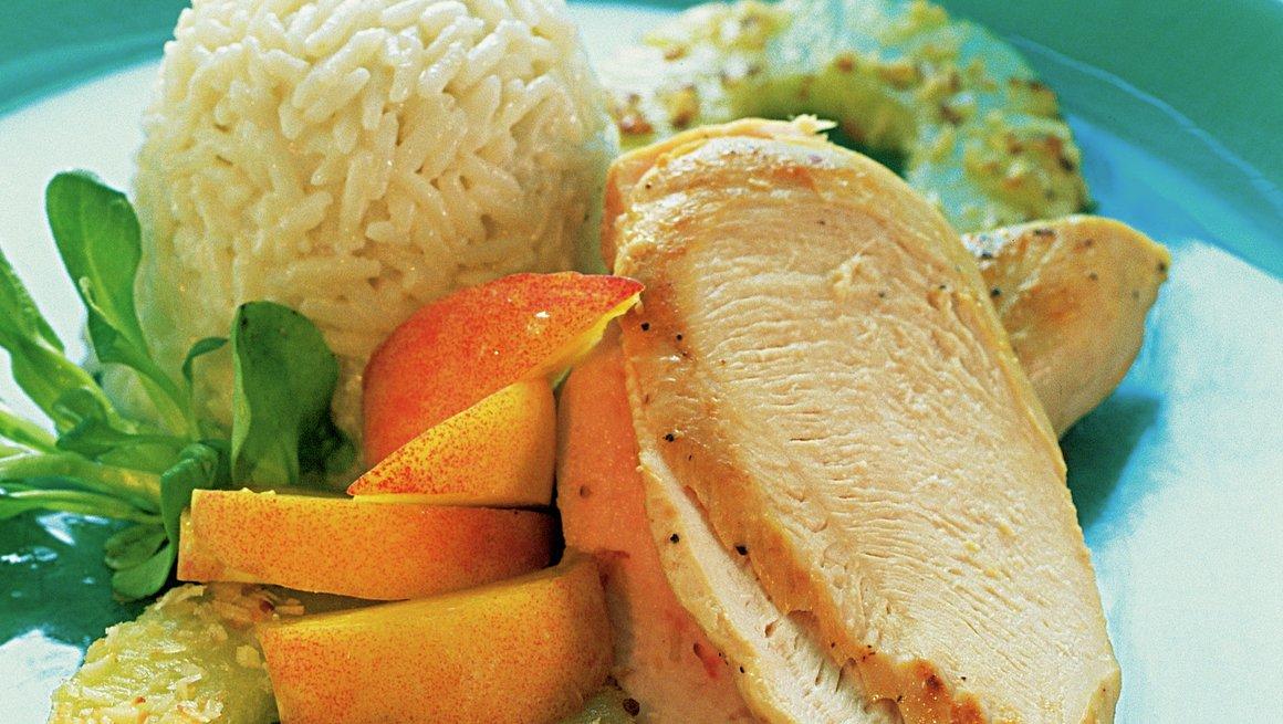 Kylling med ananas og kokosris