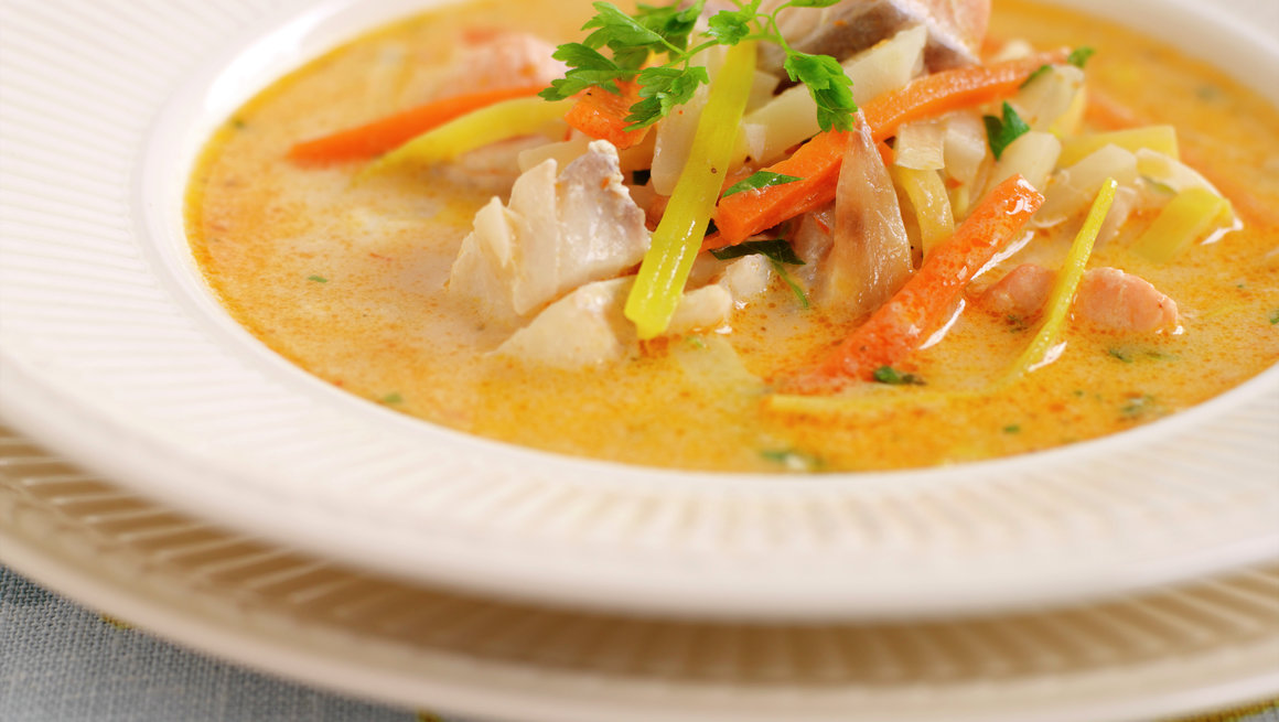 Kremet fiskesuppe