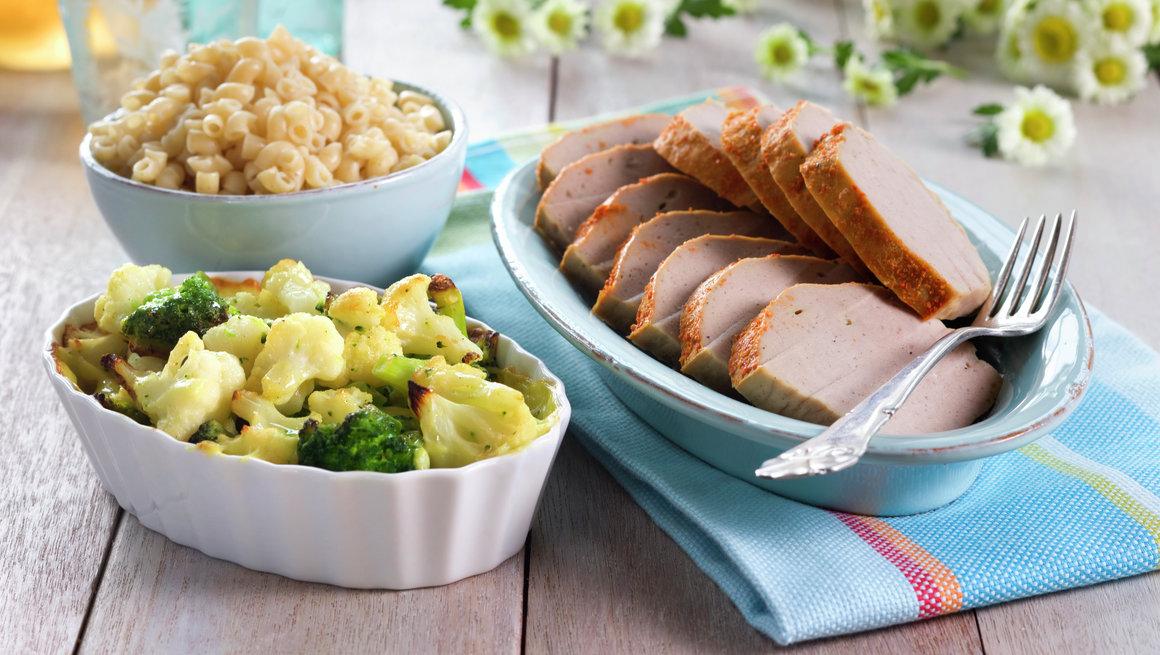 Kjøttpudding med brokkoligrateng