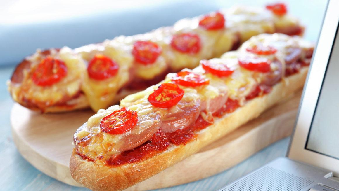 Pariserpizza med falukorv