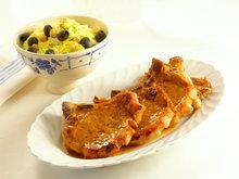Kotelett med kremet kinakål