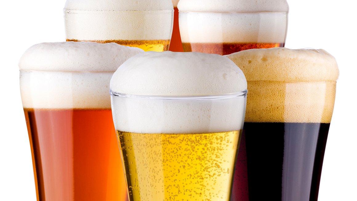 øl i ulike farger