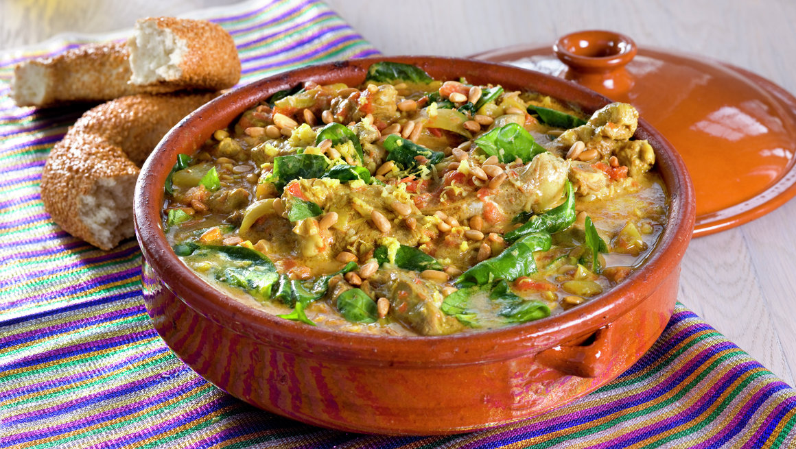 Afghansk lammerett med spinat