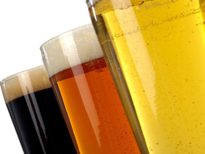 Øl i glasset