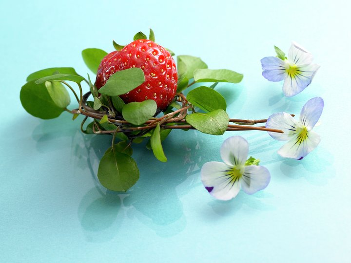Jordbærmousse-kake