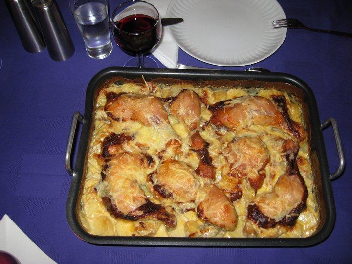 Kylling på potetseng