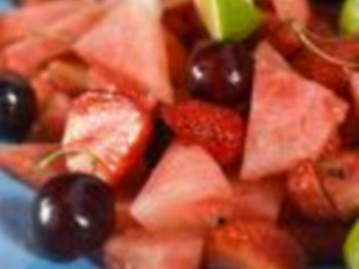 Lun frukt med Mascarponekrem