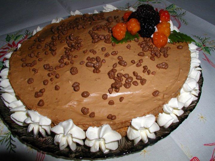 Mandelkake med Sjokoladefromasj