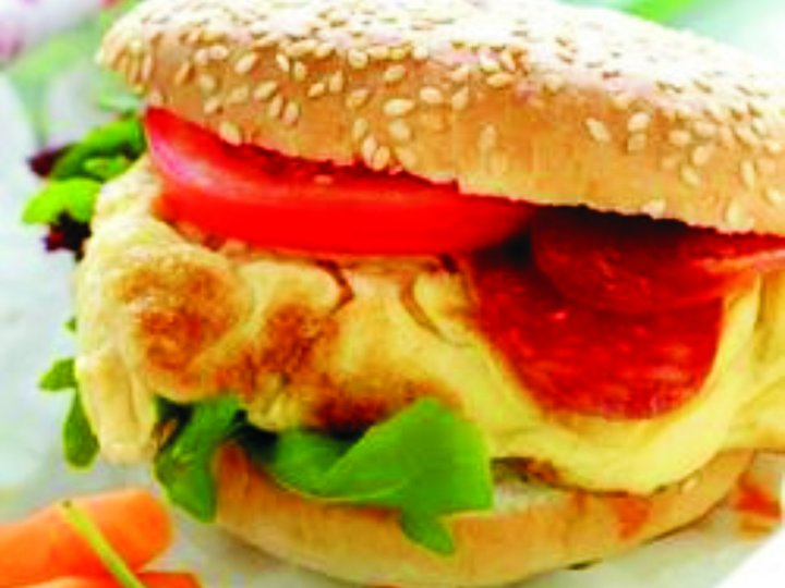 Saftig omelettburger