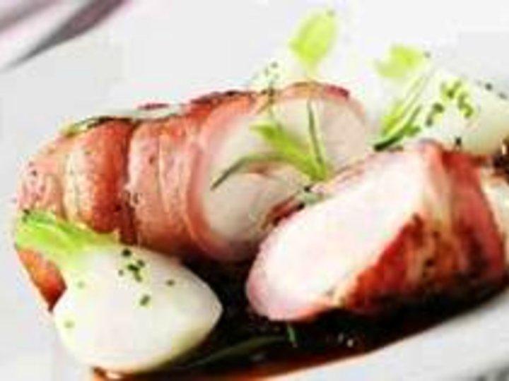 Kylling surret med bacon
