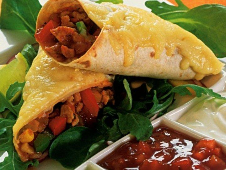 Burritos med kyllingkjøttdeig