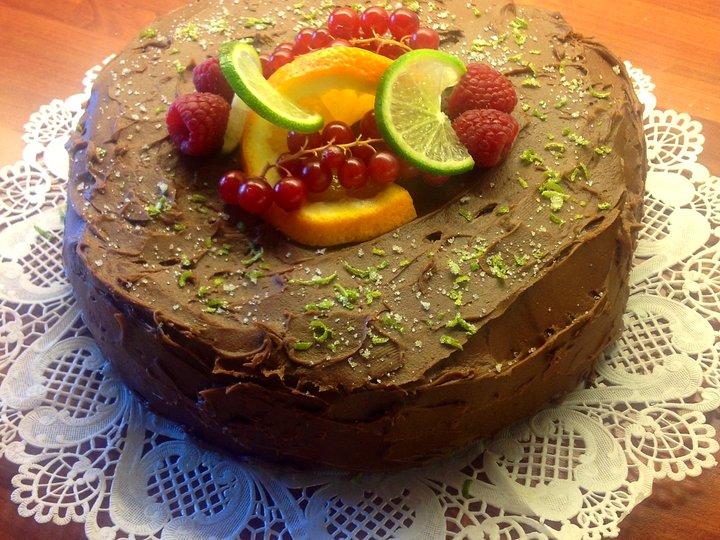 Mormors trøffel sjokoladekake