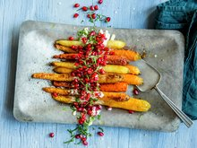 Bakte gulrøtter
