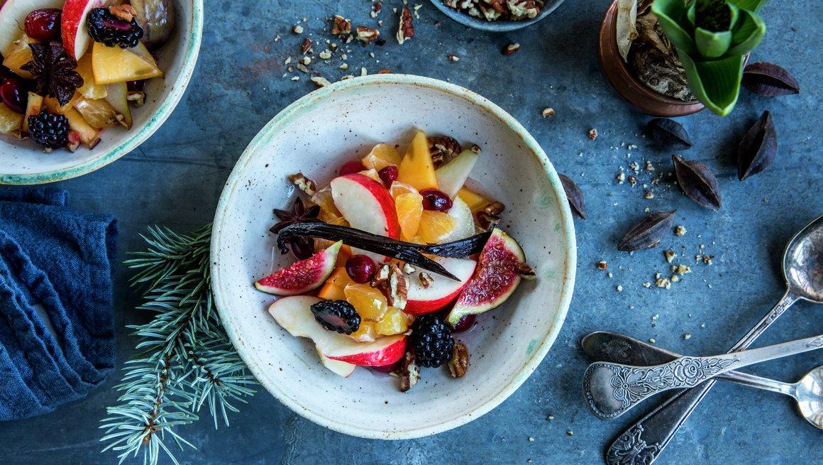 Fruktsalat til jul
