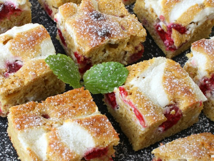 Bringebær-kake/muffins