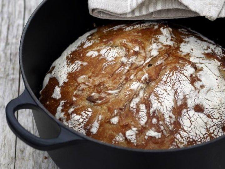Eltefritt brød (non knead bread)