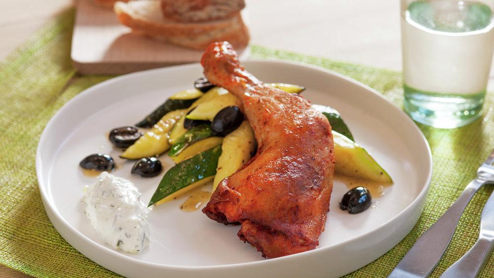 Kyllinglår med glasert squash 1